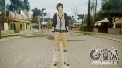 DoA School Grl pour GTA San Andreas deuxième écran