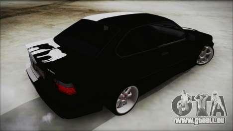BMW M3 E36 Good and Evil pour GTA San Andreas laissé vue