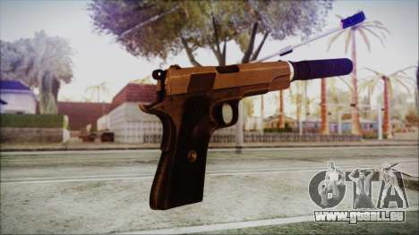 Original Colt 45 Silenced HD pour GTA San Andreas troisième écran