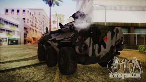 Norinco Type 92 from Mercenaries 2 pour GTA San Andreas laissé vue