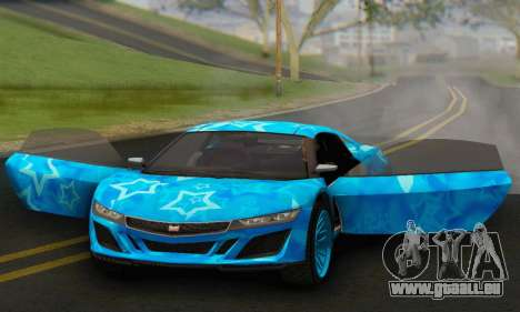 Dinka Jester (GTA V) Blue Star Edition pour GTA San Andreas vue arrière