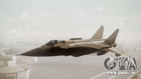 Mikoyan MiG-31 Yuktobanian Air Force für GTA San Andreas