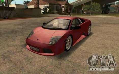 Lamborghini Murcielago für GTA San Andreas linke Ansicht
