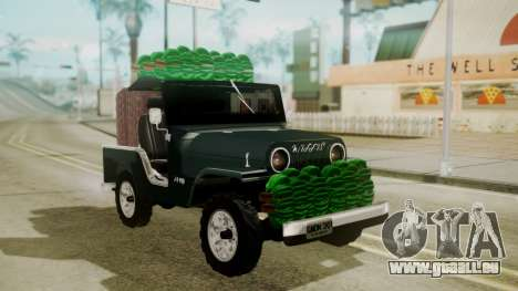 Jeep Willys Cafetero pour GTA San Andreas