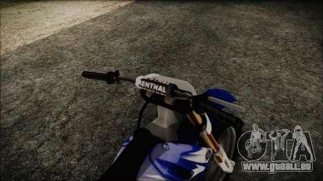 Yamaha YZ250 pour GTA San Andreas vue de droite