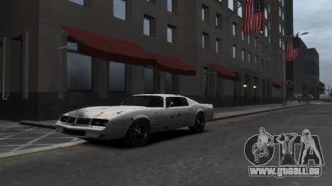 Classic Muscle Phoenix IV pour GTA 4 vue de dessus