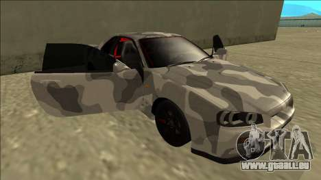Nissan Skyline R34 Army Drift pour GTA San Andreas vue de dessous