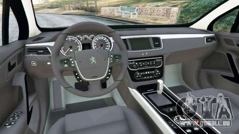 GTA 5 Peugeot 508 arrière droit vue de côté