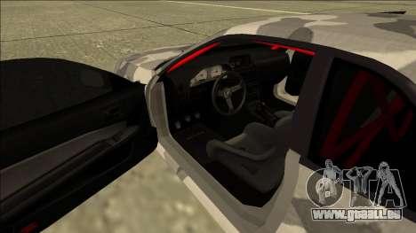 Nissan Skyline R34 Army Drift für GTA San Andreas Innenansicht