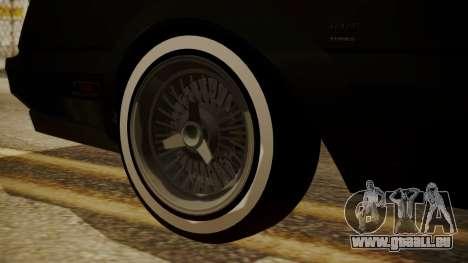 GTA 5 Faction Stock DLC LowRider pour GTA San Andreas vue de droite