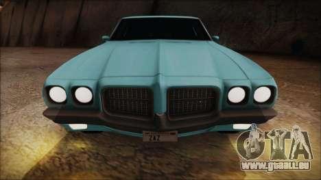 Pontiac Lemans Hardtop Coupe 1971 pour GTA San Andreas vue arrière