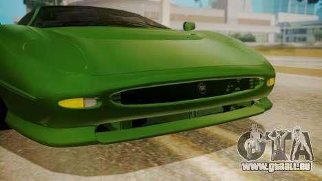 Jaguar XJ220 1992 FIV АПП pour GTA San Andreas vue intérieure