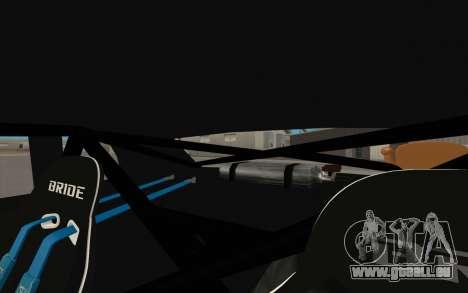 Elegy DRIFT KING GT-1 pour GTA San Andreas vue intérieure