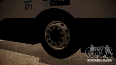 Todo Bus Agrale MT17.0LE AA für GTA San Andreas zurück linke Ansicht