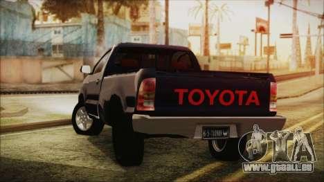 Toyota Hilux 2015 v2 pour GTA San Andreas laissé vue