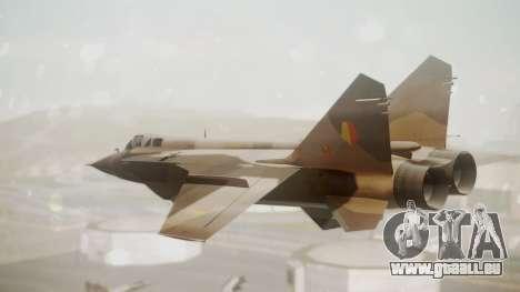 Mikoyan MiG-31 Yuktobanian Air Force für GTA San Andreas linke Ansicht