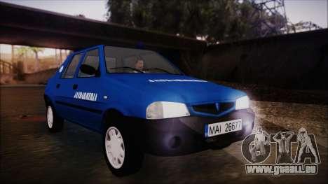 Dacia Solenza Jandarmeria pour GTA San Andreas