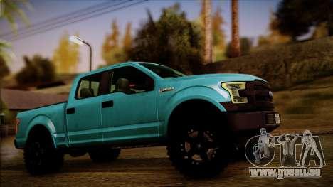 Ford F-150 4x4 2015 für GTA San Andreas zurück linke Ansicht