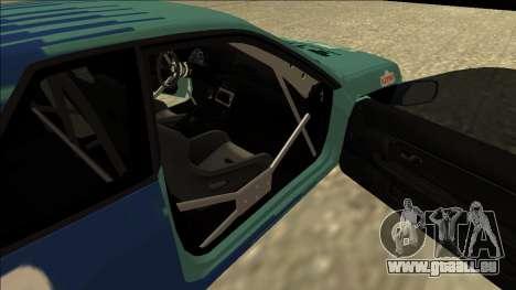 Nissan Skyline R32 Drift Falken für GTA San Andreas Rückansicht