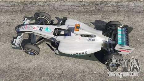 GTA 5 Mercedes-Benz MGP W01 [Michael Schumacher] v1.1 Rückansicht