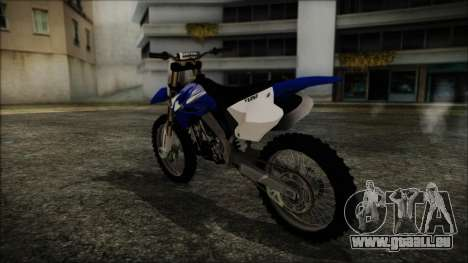 Yamaha YZ250 pour GTA San Andreas laissé vue