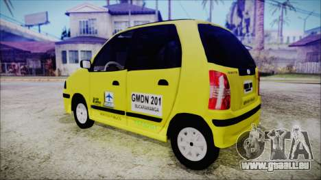 Hyundai Atos Taxi Colombiano für GTA San Andreas linke Ansicht