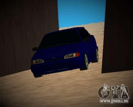 VAZ-2115 pour GTA San Andreas vue de dessous