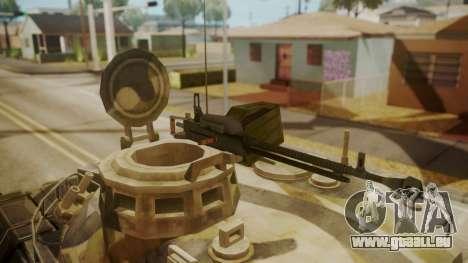 AMX 30 from Mercenaries 2 World in Flames für GTA San Andreas Rückansicht