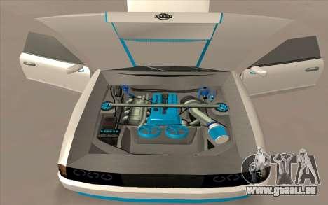 Elegy DRIFT KING GT-1 pour GTA San Andreas vue de dessous