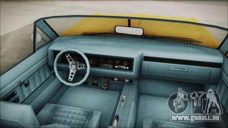 GTA 5 Albany Buccaneer Custom für GTA San Andreas zurück linke Ansicht
