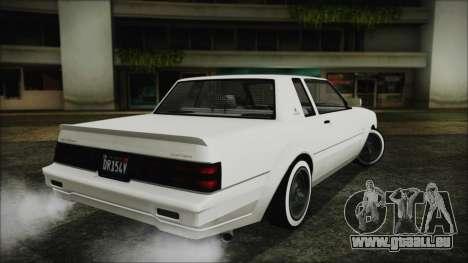 GTA 5 Willard Faction Custom without Extra Int. pour GTA San Andreas laissé vue