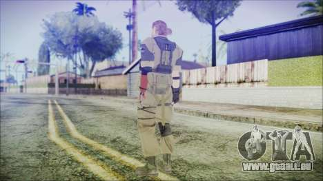 MGSV Phantom Pain Snake Normal Olive Drab pour GTA San Andreas troisième écran