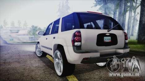 Chevrolet Triblazer pour GTA San Andreas laissé vue