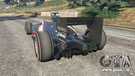 GTA 5 Hispania F110 (HRT F110) v1.1 arrière vue latérale gauche
