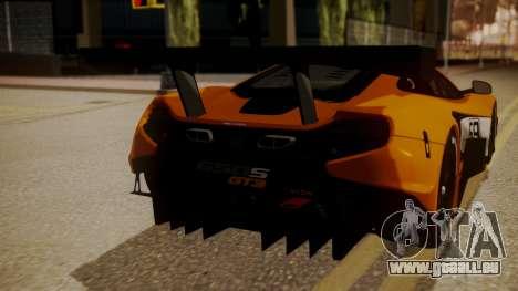 McLaren 650S GT3 2015 für GTA San Andreas Rückansicht