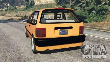 GTA 5 Fiat Tipo arrière vue latérale gauche