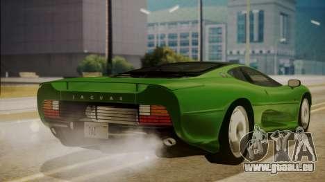 Jaguar XJ220 1992 FIV АПП pour GTA San Andreas laissé vue