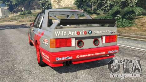 GTA 5 BMW M3 (E30) 1991 [Wild Autonio] v1.2 arrière vue latérale gauche