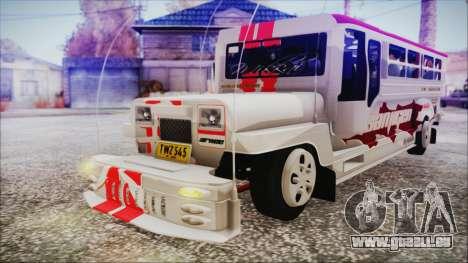 Hataw Motor Works Jeepney pour GTA San Andreas vue de droite