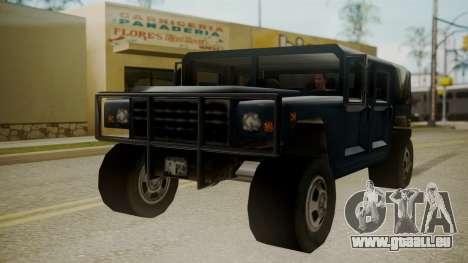 Patriot III pour GTA San Andreas vue de droite