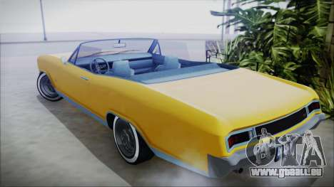 GTA 5 Albany Buccaneer Custom pour GTA San Andreas laissé vue