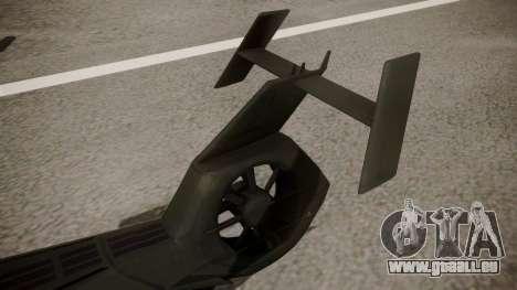 AH-99 Blackfoot pour GTA San Andreas sur la vue arrière gauche