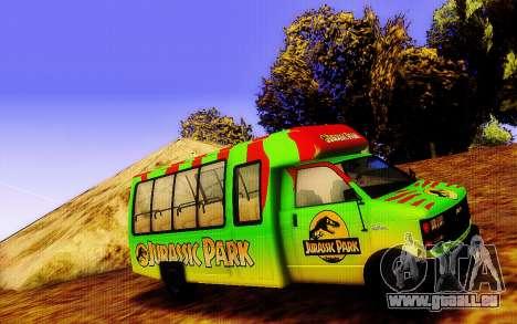 Jurassic Park Tour Bus für GTA San Andreas linke Ansicht