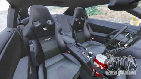 GTA 5 Nissan GT-R (R35) [LibertyWalk] rechte Seitenansicht