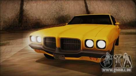 Pontiac Lemans Hardtop Coupe 1971 IVF АПП pour GTA San Andreas sur la vue arrière gauche