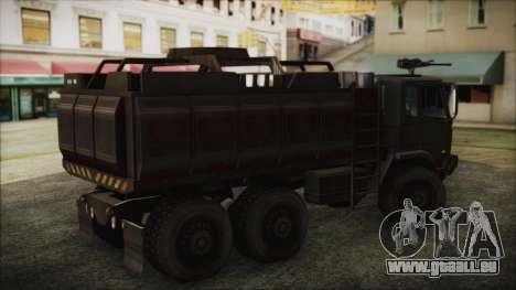 Archer Gun Truck pour GTA San Andreas sur la vue arrière gauche