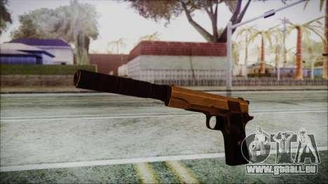 Original Colt 45 Silenced HD pour GTA San Andreas deuxième écran