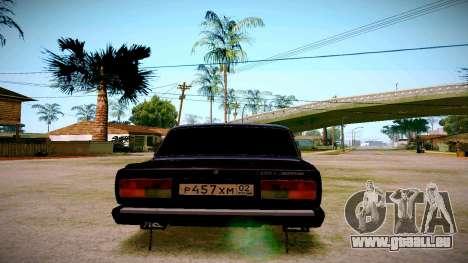 ВАЗ 2107 Licht Tuning für GTA San Andreas zurück linke Ansicht