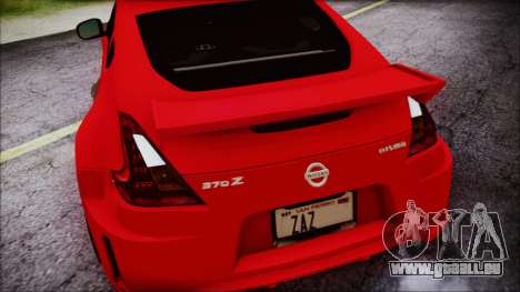 Nissan 370Z Nismo 2010 Angel Beats Itasha pour GTA San Andreas vue de dessus