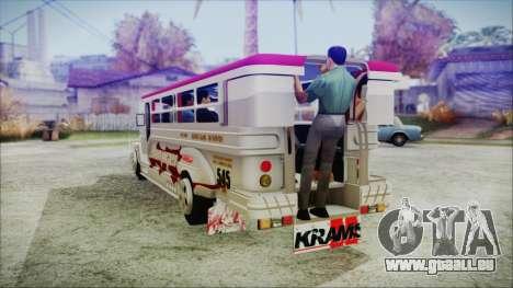 Hataw Motor Works Jeepney pour GTA San Andreas laissé vue